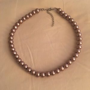 Rosegold Adjustable Assimilated Pearl Necklace
